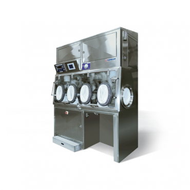 Comecer isolator with ATEX compliant chamber for dispensing procedure image_STEQ America