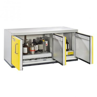 UTS XLT under bench safety cabinet with shelves